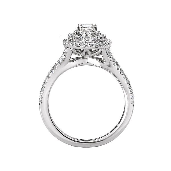 Oval Double Halo Split Shank Engagement Ring Image 4 Carter's Jewelry, Inc. Petal, MS