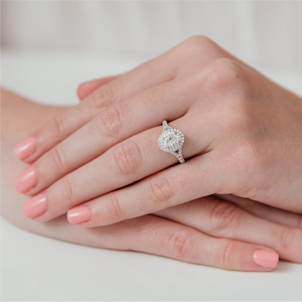 Oval Cut Double Halo Diamond Engagement Ring Image 2 Carter's Jewelry, Inc. Petal, MS