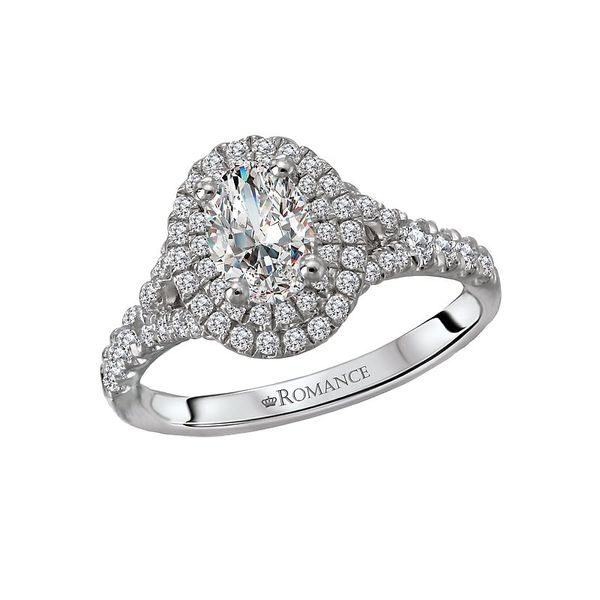 Oval Cut Double Halo Diamond Engagement Ring Image 3 Carter's Jewelry, Inc. Petal, MS