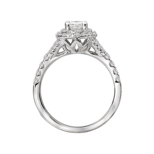 Oval Cut Double Halo Diamond Engagement Ring Image 4 Carter's Jewelry, Inc. Petal, MS