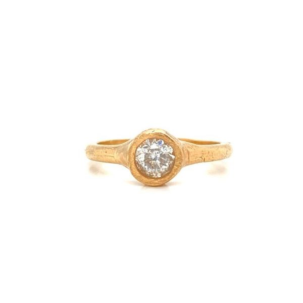 Handmade Diamond Bezel Engagement Ring Carter's Jewelry, Inc. Petal, MS