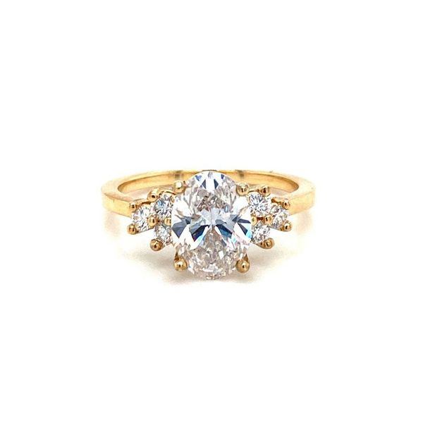 Lab Grown Oval w/ Trio Accent Stones Engagement Ring Carter's Jewelry, Inc. Petal, MS