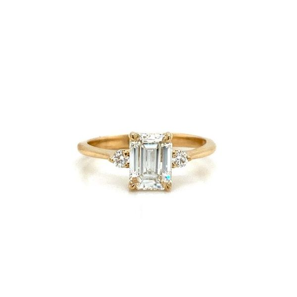 Emerald Cut w/ Accent Stones Diamond Engagement Ring Image 2 Carter's Jewelry, Inc. Petal, MS