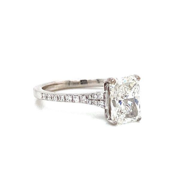 Radiant Cut Diamond Solitaire Engagement Ring Image 2 Carter's Jewelry, Inc. Petal, MS