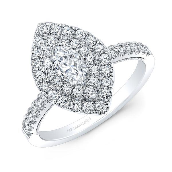 Marquise Double Halo Diamond Engagement Ring Image 2 Carter's Jewelry, Inc. Petal, MS