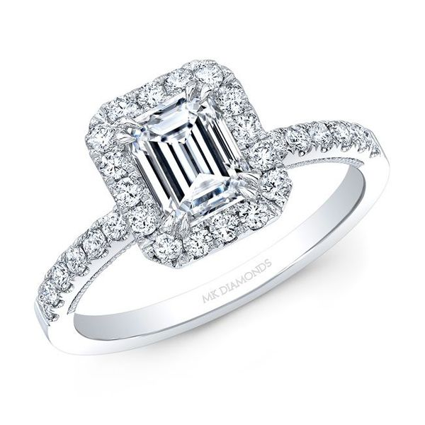 Emerald Cut Diamond Halo Engagement Ring Carter's Jewelry, Inc. Petal, MS