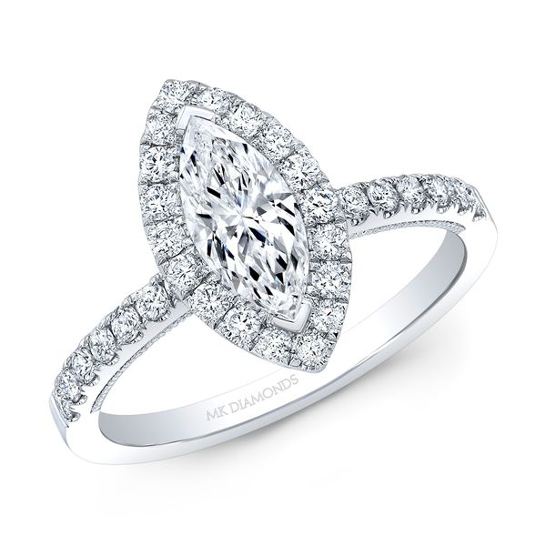 Marquise Diamond Halo Engagement Ring Carter's Jewelry, Inc. Petal, MS