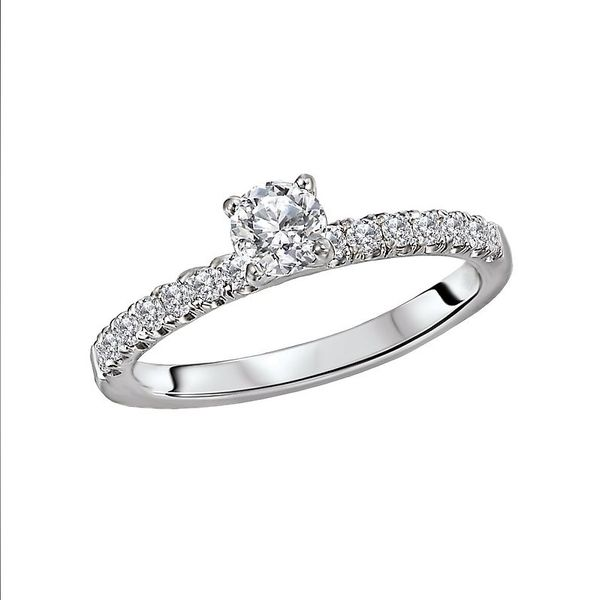 Diamond Solitaire Engagement Ring Image 2 Carter's Jewelry, Inc. Petal, MS