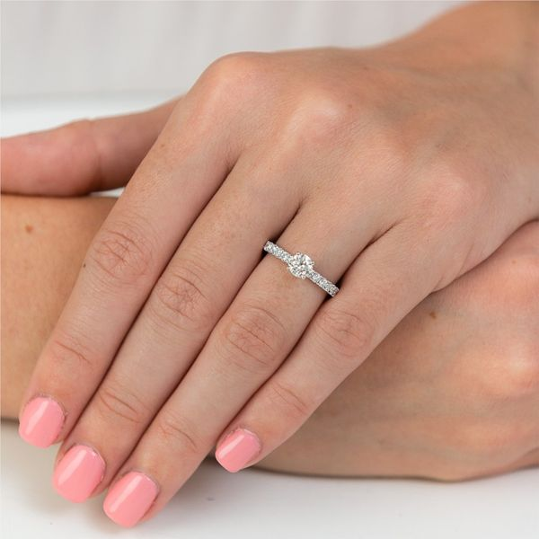 Pave Diamond Engagement Ring Image 2 Carter's Jewelry, Inc. Petal, MS