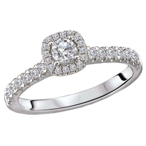 Diamond Cushion Halo Engagement Ring Image 2 Carter's Jewelry, Inc. Petal, MS