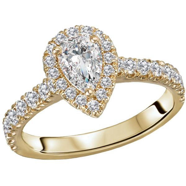 Pear Shape Halo Diamond Engagement Ring Image 2 Carter's Jewelry, Inc. Petal, MS