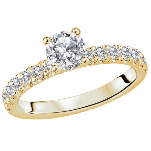 Round Diamond Solitaire Engagement Ring Image 2 Carter's Jewelry, Inc. Petal, MS