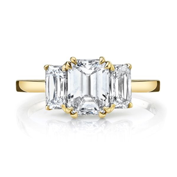 Magnolia Emerald Cut Three Stone Dimond Engagement Ring Image 3 Carter's Jewelry, Inc. Petal, MS