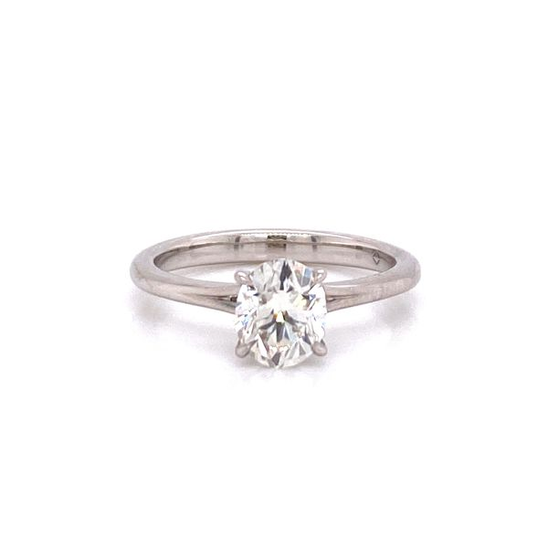 Forevermark Platinum Oval Diamond Solitaire Engagement Ring Image 2 Carter's Jewelry, Inc. Petal, MS