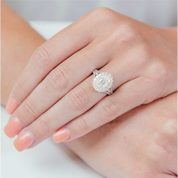 Christopher Designs L'Amour Criss-Cut Double Halo Diamond Engagement Ring Image 2 Carter's Jewelry, Inc. Petal, MS