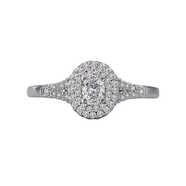 Oval Double Halo Split Engagement Ring Image 2 Carter's Jewelry, Inc. Petal, MS