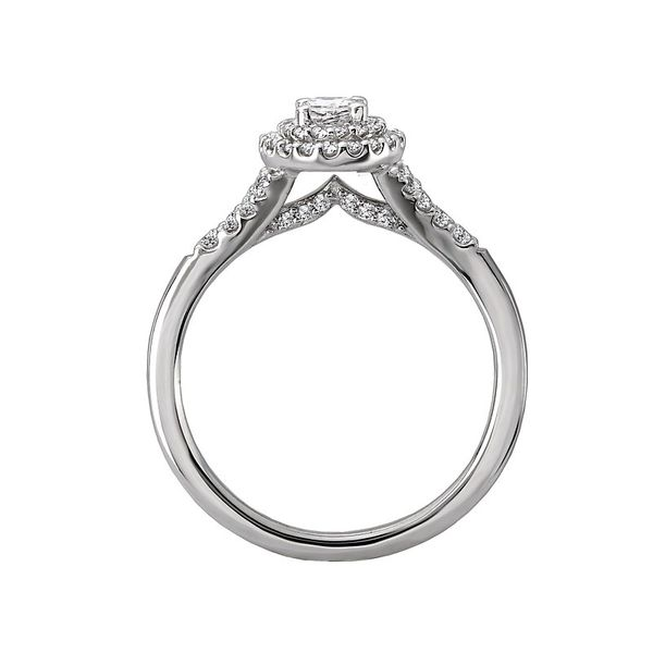 Oval Double Halo Split Engagement Ring Image 3 Carter's Jewelry, Inc. Petal, MS