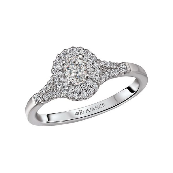 Oval Double Halo Split Engagement Ring Image 4 Carter's Jewelry, Inc. Petal, MS