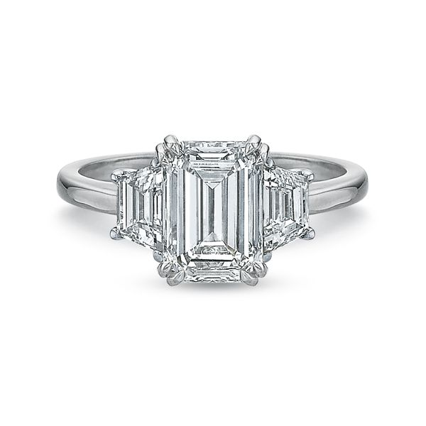 Magnolia Three Stone Emerald Cut Engagement Ring Carter's Jewelry, Inc. Petal, MS
