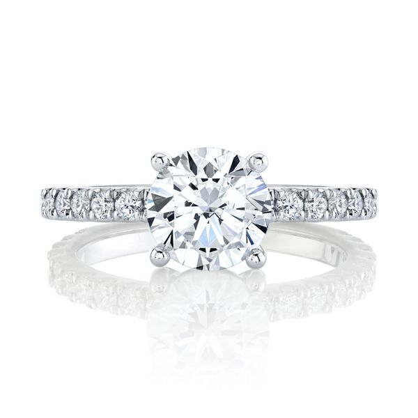 Iris Diamond Solitaire Engagement Ring Image 2 Carter's Jewelry, Inc. Petal, MS