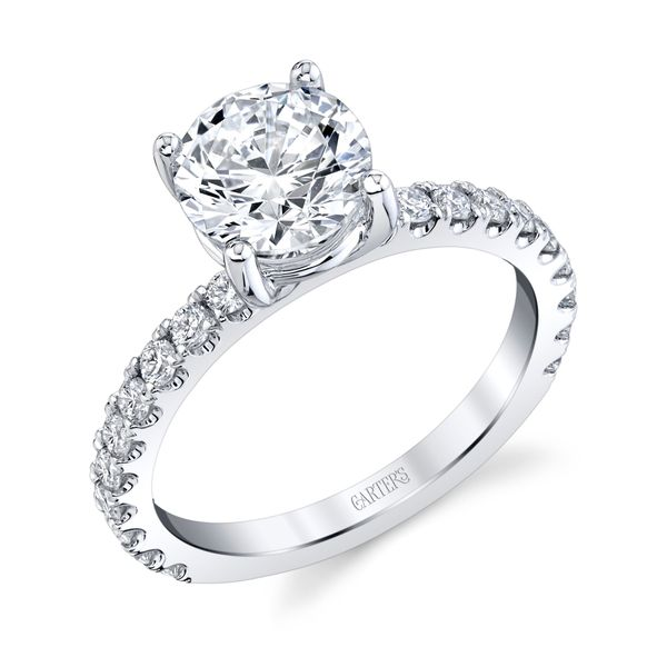 Iris Diamond Solitaire Engagement Ring Image 3 Carter's Jewelry, Inc. Petal, MS