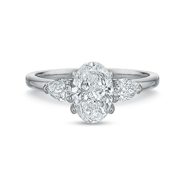 Daisy Oval Cut Three Stone Diamond Engagement Ring Image 2 Carter's Jewelry, Inc. Petal, MS
