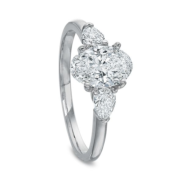 Daisy Oval Cut Three Stone Diamond Engagement Ring Image 4 Carter's Jewelry, Inc. Petal, MS