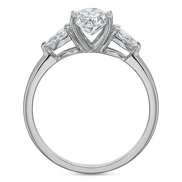 Daisy Oval Cut Three Stone Diamond Engagement Ring Image 5 Carter's Jewelry, Inc. Petal, MS