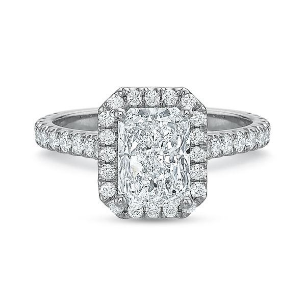 Lily Radiant Cut Halo Diamond Engagement Ring Image 2 Carter's Jewelry, Inc. Petal, MS