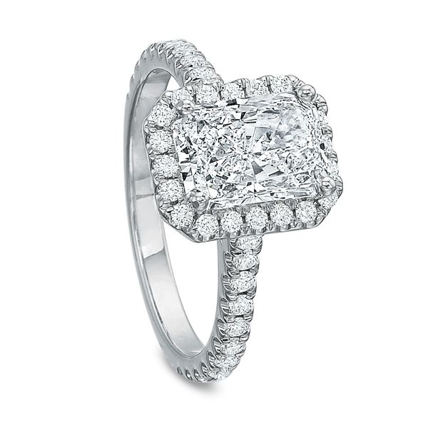 Lily Radiant Cut Halo Diamond Engagement Ring Image 3 Carter's Jewelry, Inc. Petal, MS
