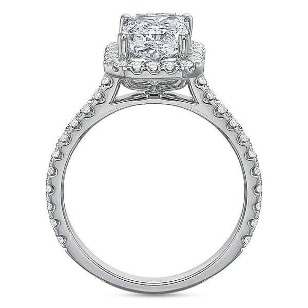 Lily Radiant Cut Halo Diamond Engagement Ring Image 4 Carter's Jewelry, Inc. Petal, MS