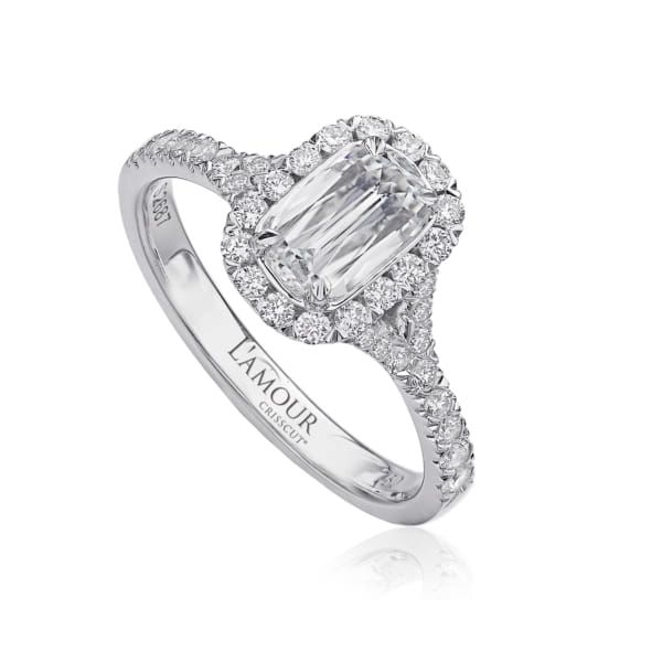 Christopher Designs Oval Split Design Diamond Halo Engagement Ring Image 2 Carter's Jewelry, Inc. Petal, MS