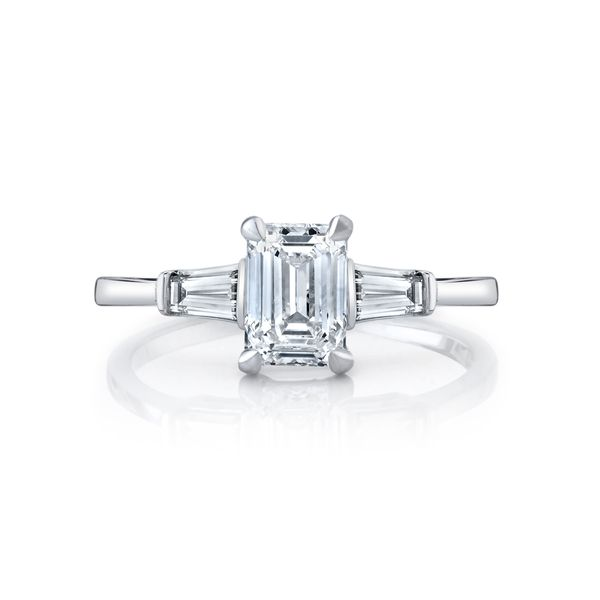 Violet Emerald Cut Three Stone Diamond Engagement Ring Image 2 Carter's Jewelry, Inc. Petal, MS