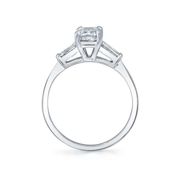 Violet Emerald Cut Three Stone Diamond Engagement Ring Image 4 Carter's Jewelry, Inc. Petal, MS
