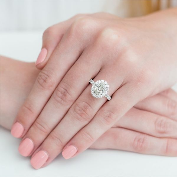 Christopher Designs Crisscut Oval Halo Diamond Engagement Ring Carter's Jewelry, Inc. Petal, MS