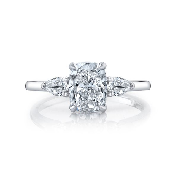 Daisy Elongated Cushion Cut Three Stone Lab Grown Diamond Engagement Ring Image 2 Carter's Jewelry, Inc. Petal, MS