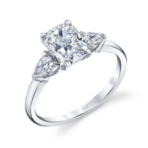 Daisy Elongated Cushion Cut Three Stone Lab Grown Diamond Engagement Ring Image 3 Carter's Jewelry, Inc. Petal, MS