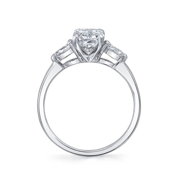 Daisy Elongated Cushion Cut Three Stone Lab Grown Diamond Engagement Ring Image 4 Carter's Jewelry, Inc. Petal, MS