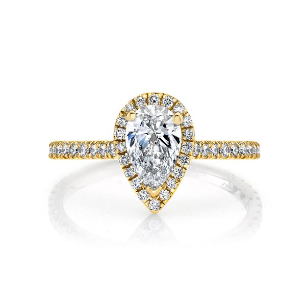 Lily Pear Shape Halo Lab Grown Diamond Engagement Ring Image 2 Carter's Jewelry, Inc. Petal, MS