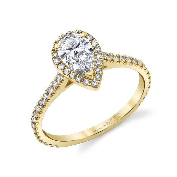 Lily Pear Shape Halo Lab Grown Diamond Engagement Ring Image 3 Carter's Jewelry, Inc. Petal, MS