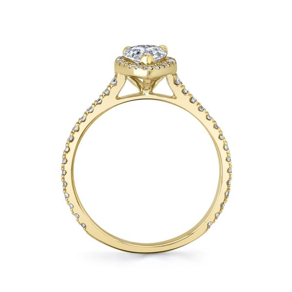 Lily Pear Shape Halo Lab Grown Diamond Engagement Ring Image 4 Carter's Jewelry, Inc. Petal, MS
