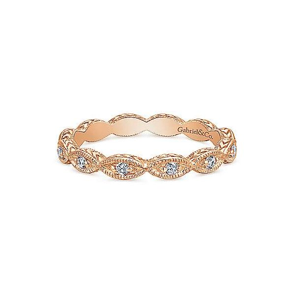 Scalloped Diamond Stackable/Wedding Band Carter's Jewelry, Inc. Petal, MS