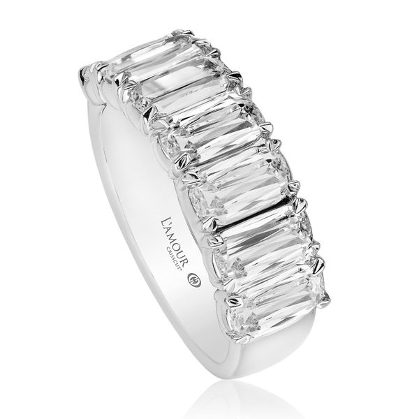 Christopher Designs L'Amour Crisscut Diamond Anniversary Band Image 2 Carter's Jewelry, Inc. Petal, MS