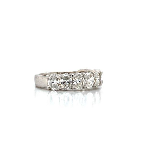 Oval Diamond Half Eternity Stackable/Wedding Band Image 2 Carter's Jewelry, Inc. Petal, MS