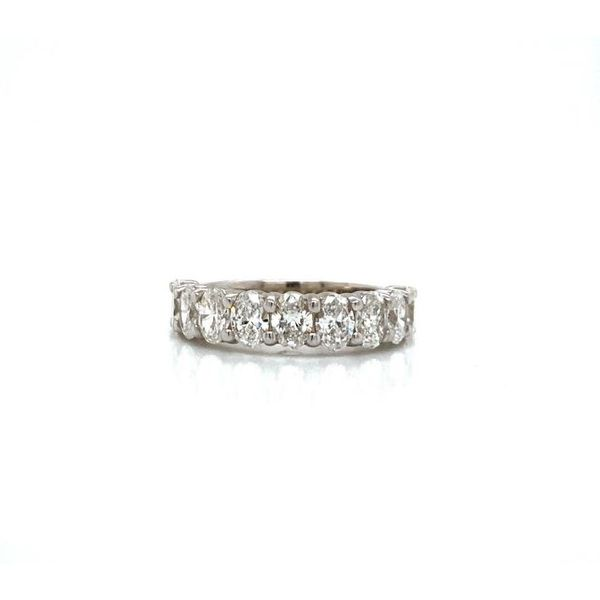 Oval Diamond Half Eternity Stackable/Wedding Band Carter's Jewelry, Inc. Petal, MS