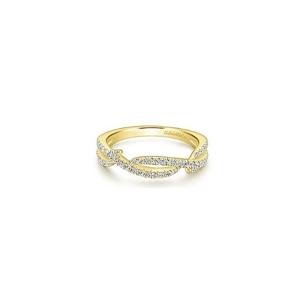 Abstract Twist Design Diamond Stackable/Wedding Band Carter's Jewelry, Inc. Petal, MS