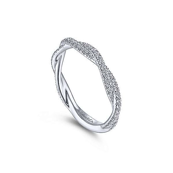Closed Infinity Diamond Stackable/Wedding Band Image 2 Carter's Jewelry, Inc. Petal, MS