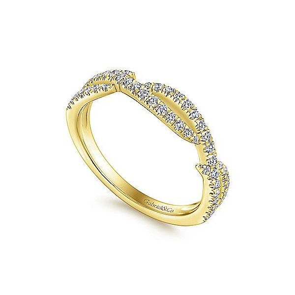 Scalloped Diamond Wedding/ Stackable Band Image 2 Carter's Jewelry, Inc. Petal, MS