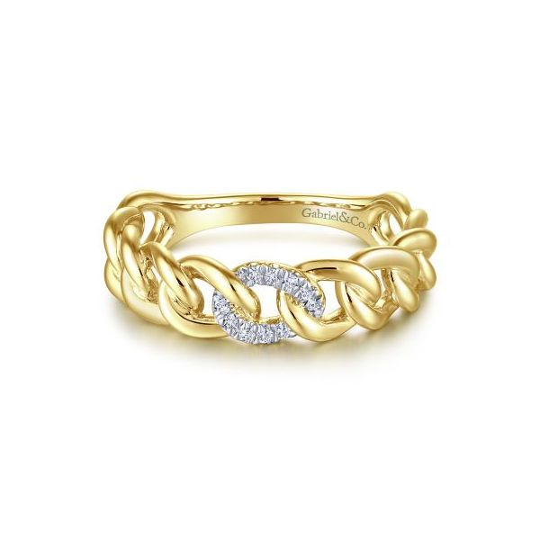 Diamond & Gold Link Fashion Ring Carter's Jewelry, Inc. Petal, MS