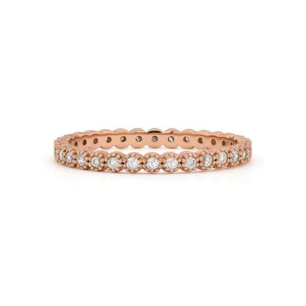 Petite Beaded Bezel Set Diamond Stackable/Wedding Band Carter's Jewelry, Inc. Petal, MS